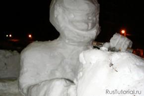 Водитель снежного автомобиля