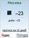 Погода в Москве ночью 18 января 2009 года